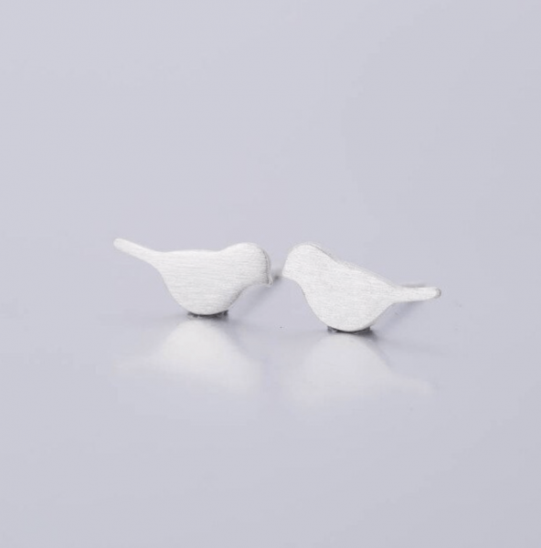 Ohrstecker Vogel - silber