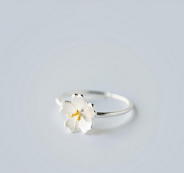 Ring Kirschblüte - silber