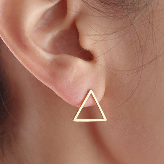Ohrstecker Dreieck - Rose-Gold