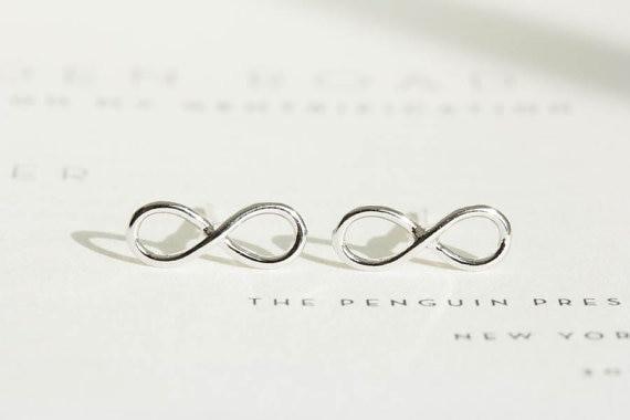 Ohrstecker Unendlich Infinity minimalistisch - Silber
