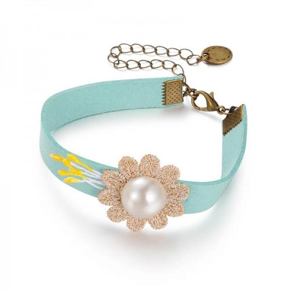 Armband Sonnenblume - mint