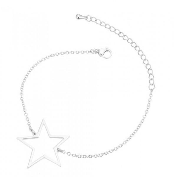 Armkettchen Stern - Silber