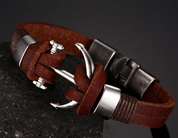 Armband Anker maritim - braun