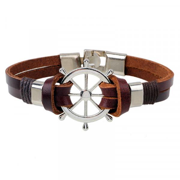 Armband Ruder maritim - Braun
