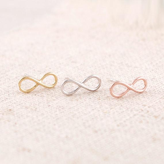 Ohrstecker Unendlich Infinity minimalistisch - Rose-Gold