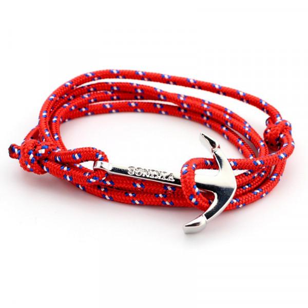 Wickelarmband Anker maritim - Rot