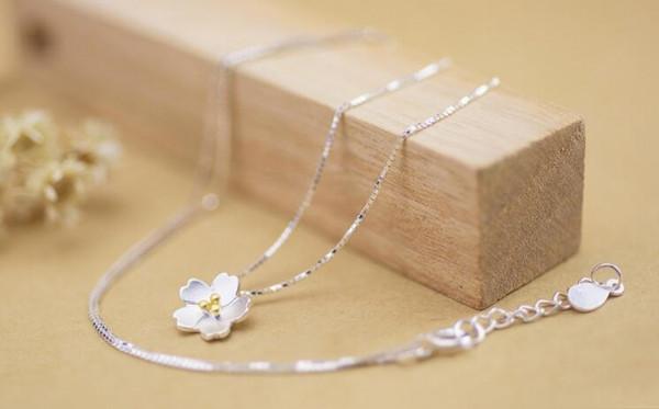 Silber Kette Kirschblüte