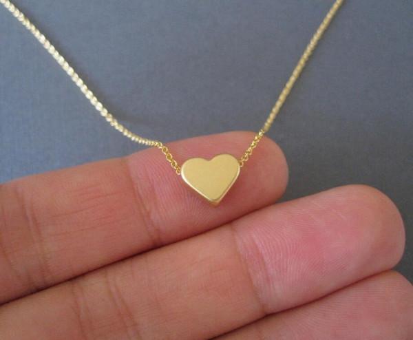 Gold Kette Herz