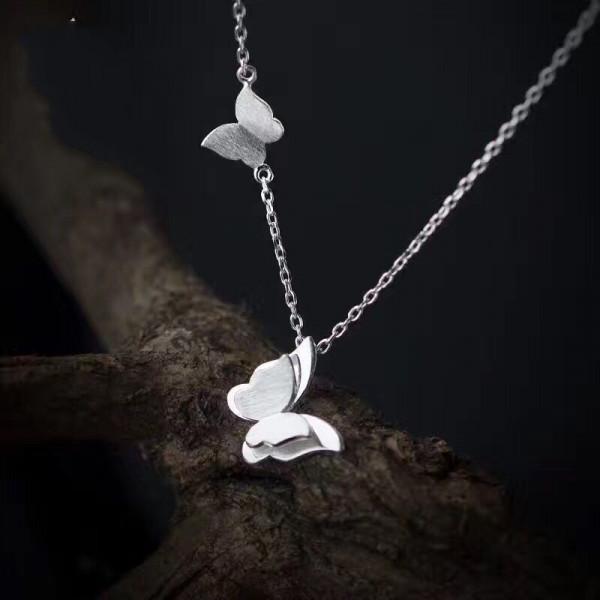 Silber Kette Schmetterlinge