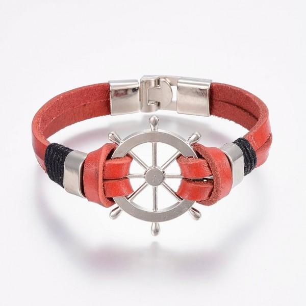 Armband Ruder maritim - Rot