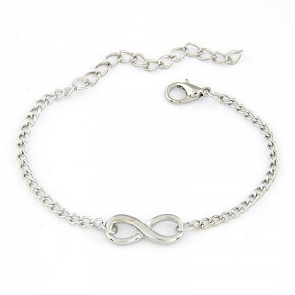 Armkettchen Unendlich Infinity - Silber