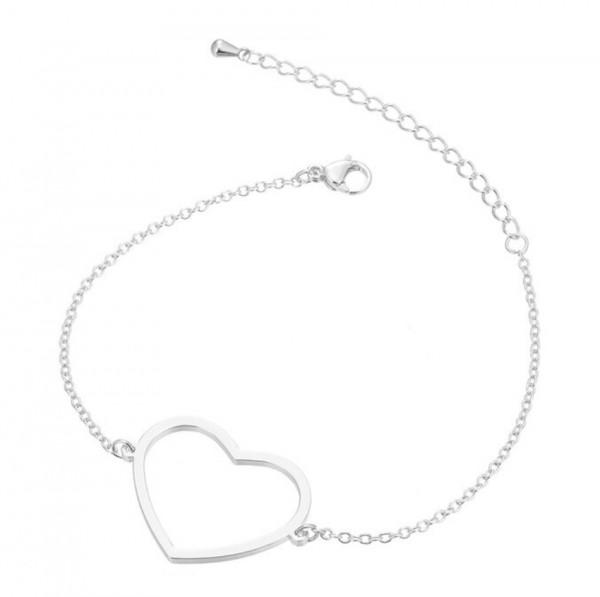 Armkettchen Herz - Silber