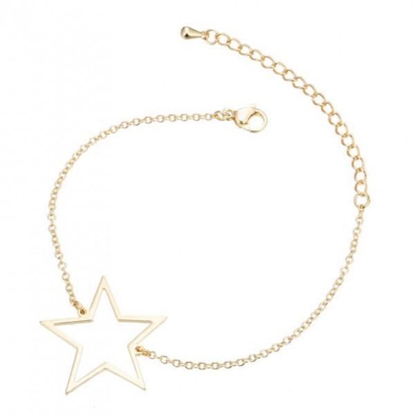 Armkettchen Stern - Gold