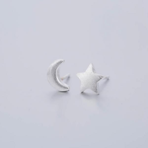 Ohrstecker Mond & Stern - silber