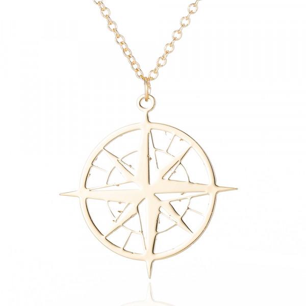 Gold Kette Kompass