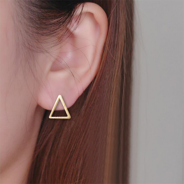 Ohrstecker Dreieck - Gold
