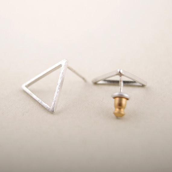 Ohrstecker Dreieck - Silber