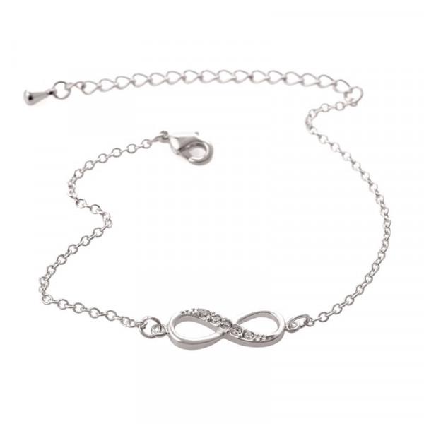 Armkettchen Glitzer Unendlich Infinity - Silber